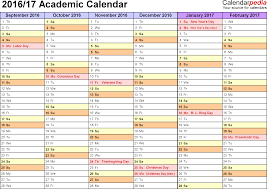 academic calendars as printable word templates template 3 academic calendar 2016 17 for word landscape orientation months horizontally
