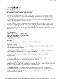 example skills for resume example of skills resume for management    example skills for resume example of skills resume for management or marketing as accounting and sales