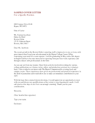 job specific cover letter examples cover letter examples  cover