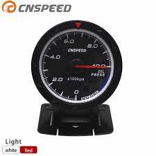CNSPEED <b>60MM</b> Car <b>Oil</b> pressure Gauge 0 10 BAR With Sensor ...