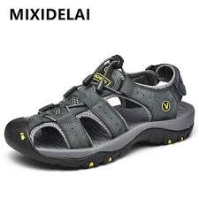 Promo <b>MIXIDELAI Genuine Leather</b> Men Shoes Summer New Large ...