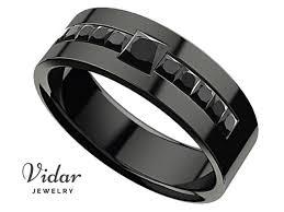 <b>Black Diamond</b> Wedding Band, Man Wedding Band <b>Black</b>, <b>Diamond</b> ...