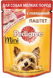 <b>Паучи Pedigree</b> паштет для собак мелких пород 80 г - купить в ...