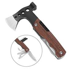 Suruid Camping Tools, Survival Hatchet <b>Multi Tool</b> Kit with <b>Hammer</b>