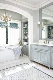 jill bathroom configuration optional: blissful blue and gray hues add timeless appeal to the master bath of a toronto home