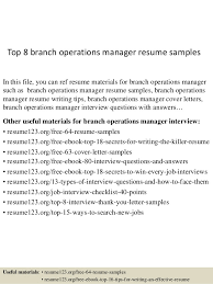 top  branch operations manager resume samplestop  branch operations manager resume samples in this file  you can ref resume materials