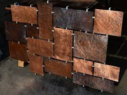 hammered wall decor d large copper wall art and decor u zesy home