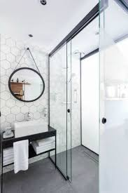 bathroom white tiles: where do we start with this beautyour favourite hexagonal tiles white with grey grout stunning gorgeous walk in large shower with sliding glass doors