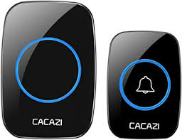<b>CACAZI</b> A10 <b>Wireless Doorbell</b> Waterproof <b>Door Bell</b> Kit 1000 Feet ...