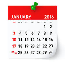 Image result for calendar january 2016
