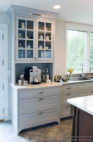 transitional kitchen design with shaker style cabinets 11 crown pointcom built coffee bar makeover