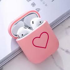 Cute <b>Earphone</b> Case For Apple Airpods 1 2 <b>Hard PC</b> Air Pod Pink ...