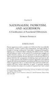 nationalism patriotism and aggression springer inside