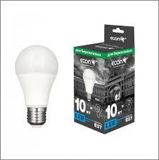 <b>Лампа светодиодная ECON LED</b> A 10Вт E27 4200K A60 ES ...