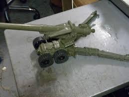 MARX RARER DUAL AXLE 4 WHEEL HOWITZER <b>155mm</b> FIELD ...