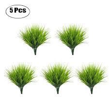 <b>5PCS</b>/<b>Set Artificial Grass Plant</b> Decorative Plastic Fake Plant Fake ...