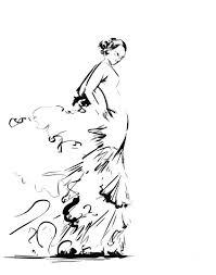 Flamenco <b>dancer</b> fine art print, <b>black</b> and <b>white dance minimalist</b> ink ...