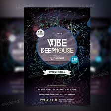 vibe deep house party psd flyer net do