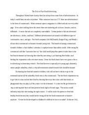 fast food nation essay   the evils of fast food advertising  fast food nation essay   the evils of fast food advertising throughout united