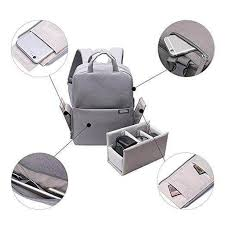 Fashion Style <b>Canvas</b> DSLR Camera Backpack Light Grey ...