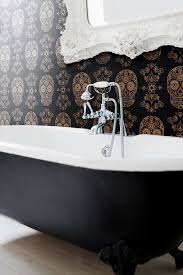 Skull Bathroom Decor Its Mourning In America Skull Wallpaper Clawfoot Tubs And Medical