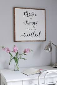 office wall decor ideas free diy wood framed sign tutorial and a free printable of this ba 1 4 ros google office