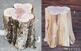 how to make tree stump furniture awesome tree trunk table 1