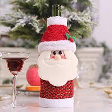 ShiningLove Home <b>Cute Cartoon</b> Santa Claus/Snowman/Elk Wine ...