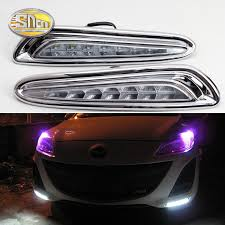 SNCN <b>2PCS</b> LED Daytime Running Light For <b>Mazda 3</b> 2011 2012 ...