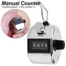 4 Digit <b>iron shell</b> manual counter Mini Lap Golf <b>Hand Held</b> Manual ...