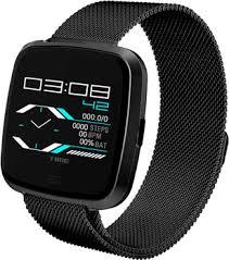 <b>Умные часы NO.1 G12</b> черные, ремешок сталь (NO.1G12BLS ...