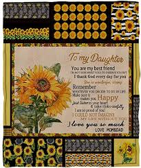 YEARGER Sunflower Print Square Blankets for Sofa ... - Amazon.com