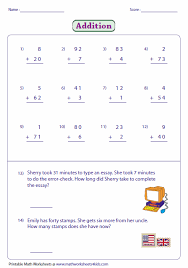 2 Digit Addition Worksheets... no regrouping addition. Adding 2-digit and single digit numbers