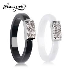 TUHE New Crystal Star <b>Ceramic Ring</b> Rose Gold Color With <b>4MM</b> ...