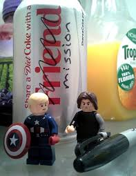 Bucky Barnes makes a minor edit to a Coke can. Captain America is ... via Relatably.com