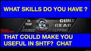 what skills do you have that could make you useful in shtf what skills do you have that could make you useful in shtf