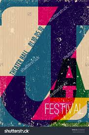 jazz music poster background template vintage stock vector jazz music poster background template vintage typographic composition the word jazz texture