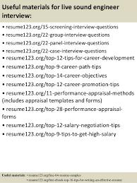 top  live sound engineer resume samples
