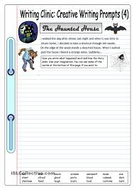 writing clinic creative writing prompts the haunted house writing clinicacutes creative writing prompts are designed to provide ideas and to get students writing ease this worksheet comes a story starter and