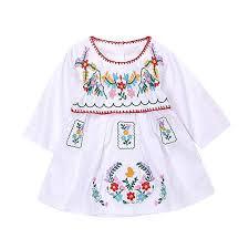 Aalizzwell <b>Newborn</b> Toddler <b>Baby</b> Girls Ethnic Embroidery <b>Floral</b> ...