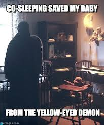 Co-sleeping Saved My Baby - Supernatural Azazel meme on Memegen via Relatably.com