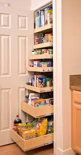 kitchen solution traditional closet: roll out pantry is a great solution for a small kitchen