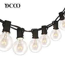 <b>DCOO</b> 25Ft G40 Globe String Lights With Clear Bulbs UL Listed ...