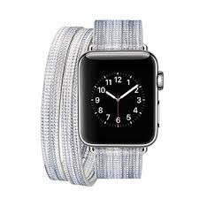 iPM IPMDBLCFUN-38-C Leather <b>Double</b> Wrap Apple Watch <b>Band</b> ...