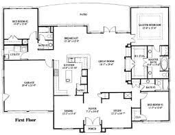 Simple one story house plan   House plans   Pinterest   One Story    Simple one story house plan
