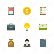 flat design icons tablet computer dollar coin checklist flat design icons tablet computer dollar coin checklist interview suitcase creative