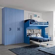 childrens bedroom furniture set blue for boys with two beds blue kids furniture