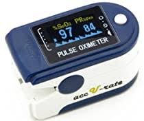 <b>CMS 50D</b> Blue Finger <b>Pulse Oximeter</b>, Blue ...