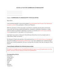 Format Cover Letter Example Journal Submission Builder Apa Style
