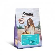Карми <b>Корм сухой Hair</b> Skin для кошек, склонных к пищевой ...